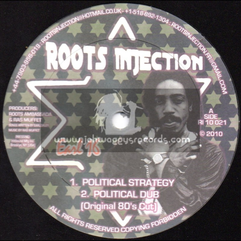 "Roots Injection-10""-Political Strategy / Earl Sixteen"