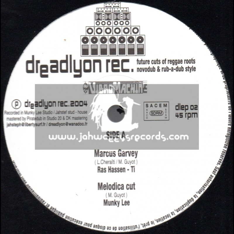 """Dreadlyon Records(2004)-10""""-Marcus Garvey + Roots From The Rocks / Ras Hassen - Ti (Munky Lee)"""