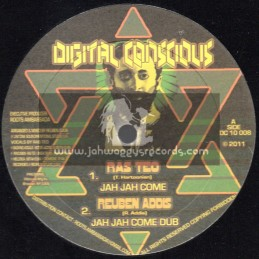 "Digital Concious-10""-Jah Jah Come + Hola Mount Zion / Ras Teo (Reuben Addis)"