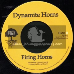 "Roots Tribe-7""-Firing Horns /  Dynamite Horns Meet Slimmah Sound"