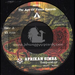 """The Age Of Venus Records-7""""-Imposter / Afrikan Simba"""