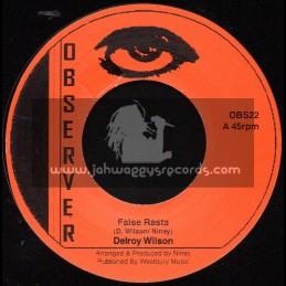 "Observer-7""-False Rasta + Halfway To Upstairs / Delroy Wilson"