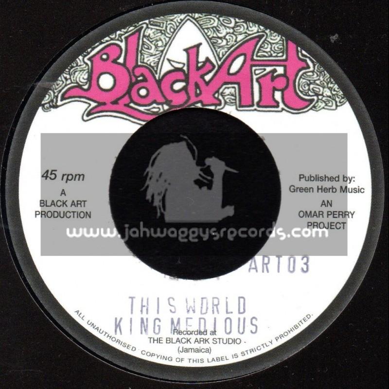 """Black Art-7""""-This World / King Medious + Fever / Junior Byles"""