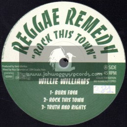 """Reggae Remedy-12""""-EP-Rock This Town / Willie Williams"""