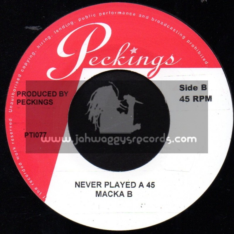 """Peckings-7""""-Never Played A 45 / Macka B"""