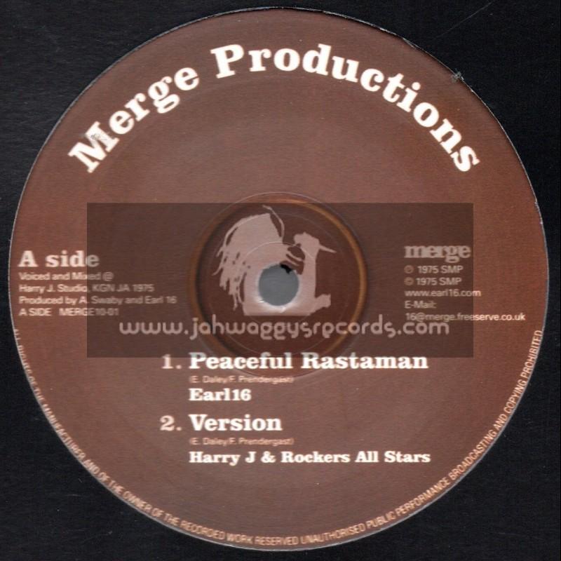 "Merge Productions-10""-Peaceful Rastaman + Malcolm X / Earl Sixteen"