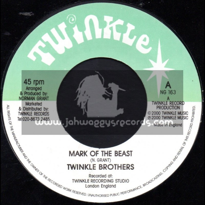 """Twinkle Brothers-7""""-Mark Of The Beast / Twinkle Brothers"""