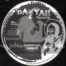"Da 1 Yah Records-7""-Rastafari Lives / I Lements"