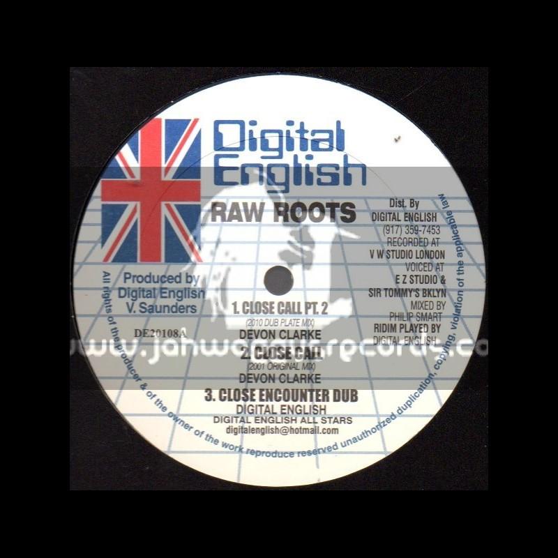 "Digital English-10""-Close Call (Dubplate Mix)/Devon Clarke + Mama Ball / Screechie Dan"