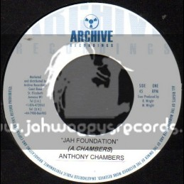 "Archive Recordings-7""-Jah Foundation / Anthony Chambers"