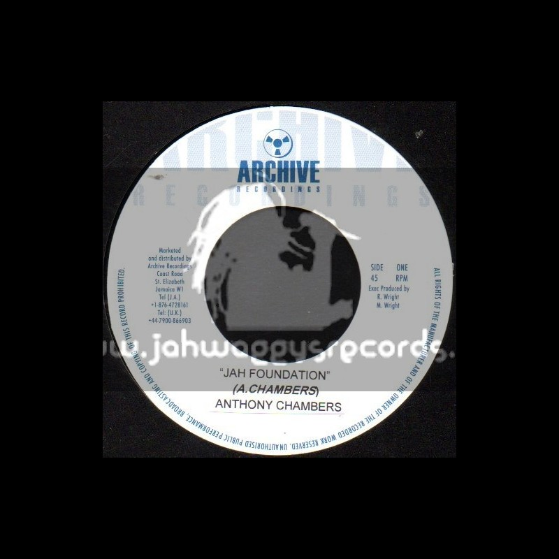 """Archive Recordings-7""""-Jah Foundation / Anthony Chambers"""