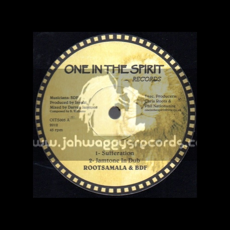 """One In The Spirit Records-12""""-Sufferation / Rootsmala & BDF"""