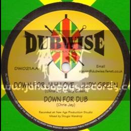 """DUBWIZE PRODUCTIONS 10""""-BUSH CRAFT + DOWN FOR JAH LOVE-JUDY GREEN"""