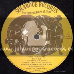 "Solardub Records-12""EP-Various Artist / Tad Hunter-Shaft Benjamin-Amanda Shaw-G Vibes & Junior Paradise"