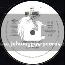 """Archive Recordings-10""""-Stand Up For A Right / Allan Kingpin"""