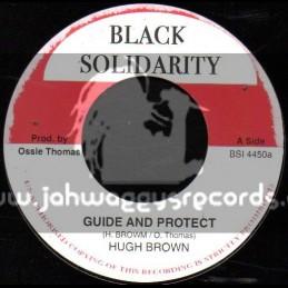 """Black Solidarity-7""""-Guide And Protect / Hugh Brown"""