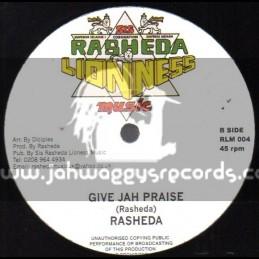 "Sis Rasheda Lioness Music-12""-Give Jah Praise + Only Jah Worthy / Sister Rasheda"