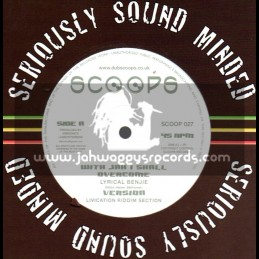 """Scoops-10""""-With Jah I Shall Overcome / Lyrical Benji + No Easy Way Out / Rohan Lee (2008)"""