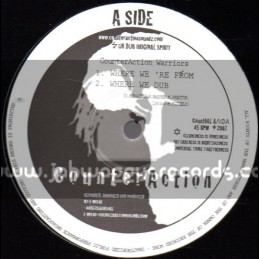 """CounterAction-10""""-Where We re From / CounterAction Warriors & Jah Mystic"""