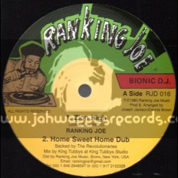 "Ranking Joe-12""-Zion High / Ranking Joe + Home Sweet Home / Dennis Brown"