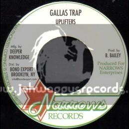 """Narrow Records-7""""-Gallas Trap / Uplifters"""