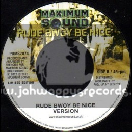 "Maximum Sound-7""-White Collar Boss / Sizzla + Rude Bwoy Be Nice Version"