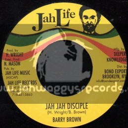 "Jah Life Records-7""-Jah Jah Disciple / Barry Brown"