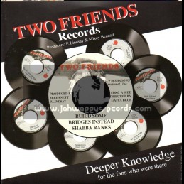 """Two Friends Records-7""""-Build Some Bridges Instead / Shabba Ranks"""