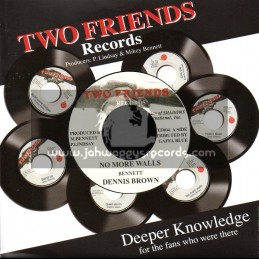 "Two Friends Records-7""-No More Walls / Dennis Brown"