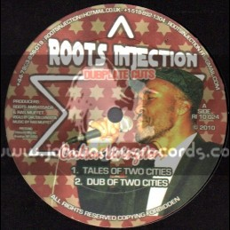 """Roots Injection-10""""-Tales Of Two Citys + 100Lbs Collie Weed / Carlton Livingstone"""