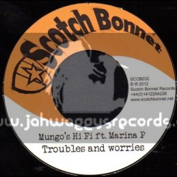 """Scotch Bonnet-7""""-Troubles & Worries / Marina P + Guidency / Omar Perry"""