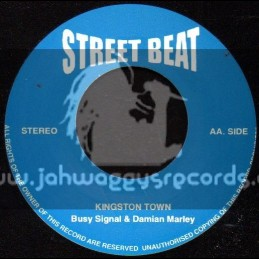 """Street Beat-7""""-Kingston Town / Busy Signal & Damian Marley + Keep It Like This / Stacy Batthe"""