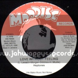 """Moodisc Records-7""""-Love Without Feeling / The Heptones"""