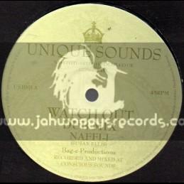 """Unique Sounds-10""""-Watch Out + I m Vex / Naffi I"""