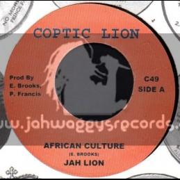 """Coptic Lion-7""""-African Culture / Jah Lion"""