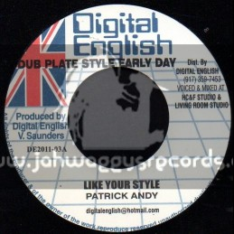 """Digital  English-7""""-Like Your Style / Patrick Andy"""