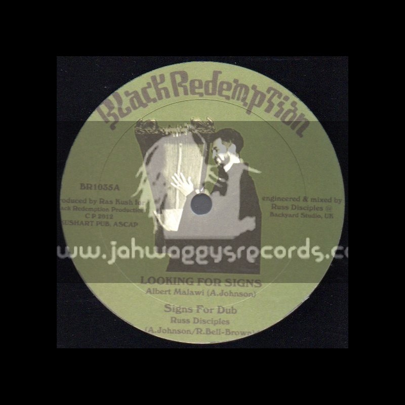 """Black Redemption-10""""-Looking For Signs + Lets Get It Right / Albert Malawi"""