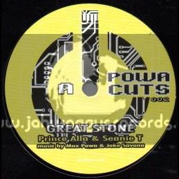 "Powa Cuts-7""-Great Stone / Prince Alla & Seanie T"