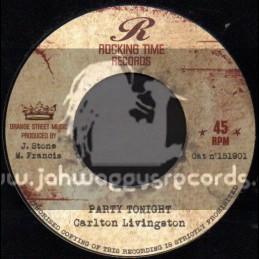 "Rocking Time Records-7""-Party Tonight / Carlton Livingston"