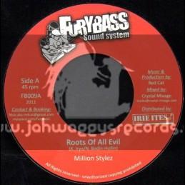 "Furybass Sound System-7""-Roots Of All Evil/Million Stylez + Ragga Music Inna Mi Life/Virtus"