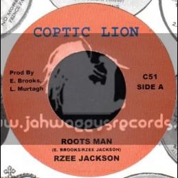 """Coptic Lion-7""""-Roots Man / R Zee Jackson"""