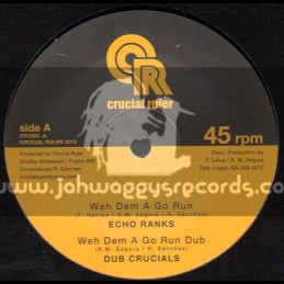 """Crucial Ruler-7""""-Weh Dem A Go Run / Echo Ranks + Country Living / Linval Thompson"""