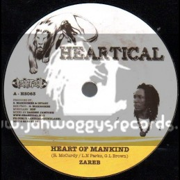 "Heartical-7""-Heart Of Mankind / Zareb + Keep Up The Faith / Rootsamala"