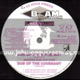 "Blakamix International-10""-Ark Of The Covenant + Give Jah Praise / D Maximillion"