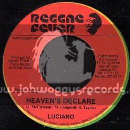 """Reggae Fever-7""""-Heavens Declare / Luciano"""