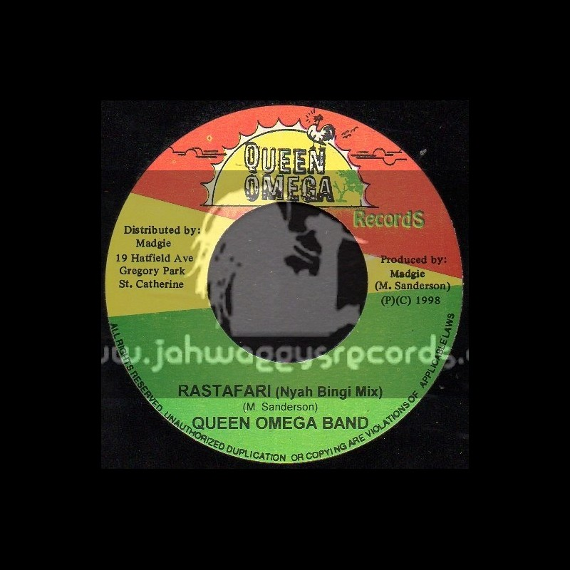 """Queen Omega Records-7""""-Rastafari(Nyah Bingi Mix)/Queen Omega Band"""