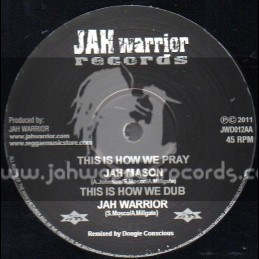 """Jah Warrior Records-12""""-Time To Grow/Anthony Johnson+This Is How We Pray/Jah Mason"""