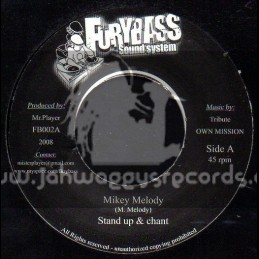 """Furybass Sound System-7""""-Stand Up & Chant / Mikey Melody + Heart Attack / Colonel Maxwell"""