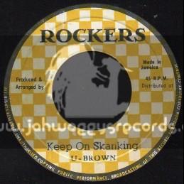 """Rockers-7""""-Keep On Skanking / U Brown"""
