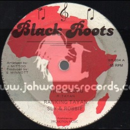 """Black Roots-12""""-Trod Along + Cassette & Tape / Ranking Tayan (Sly & Robbie)"""